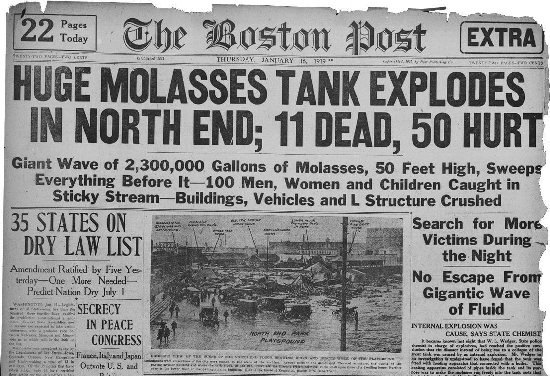 Floods of Molasses and Racism In 1919 Boston
